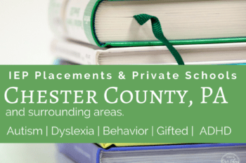 {Chester County} Private, APS and IEP placement options for students with disabilities.