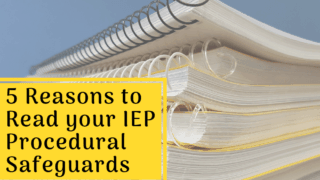 I bet you didn't know about these 5 things in IEP Procedural Safeguards.