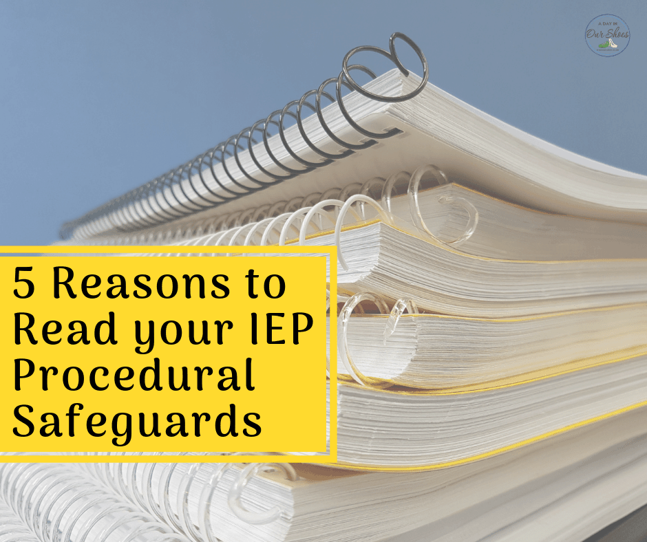 Parents Rights In Special Education Notice Of Procedural Safeguards >> I Bet You Didn T Know About These 5 Things In Iep Procedural