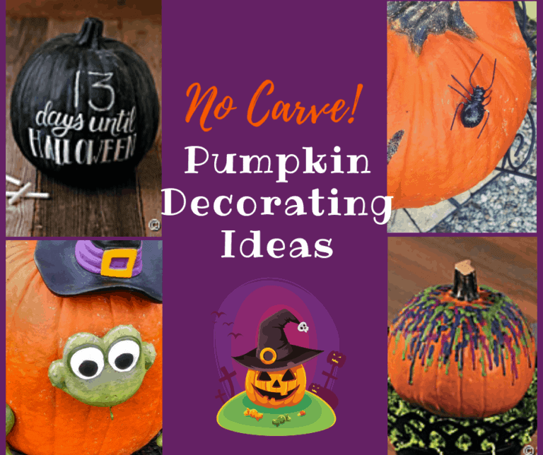 Fun and Easy No-Carve Pumpkin Ideas | Decorations | Paint | Drilling
