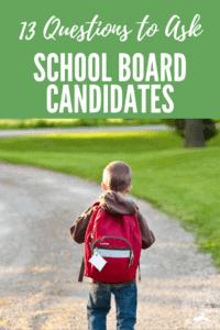 school board candidate questions