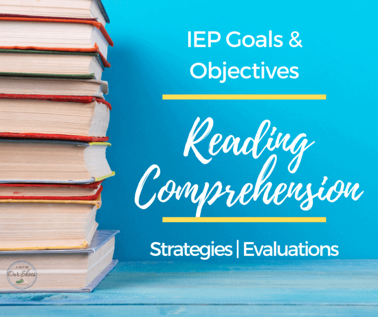 40 IEP Goals for Reading |  Comprehension | Strategies | Evaluations