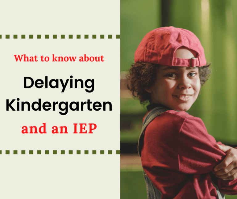 Redshirting Your Kindergartener | Pros and Cons with an IEP
