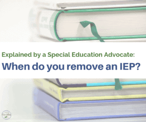 remove an iep