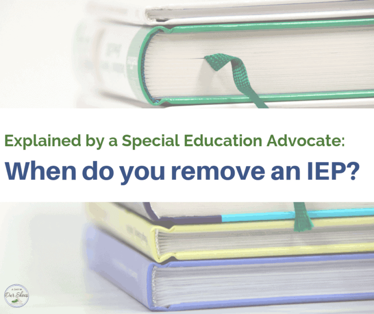 How (and why?) do you remove an IEP?