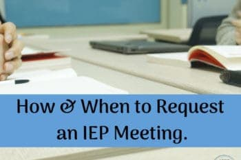 request an IEP meeting sitting at desk hands folded