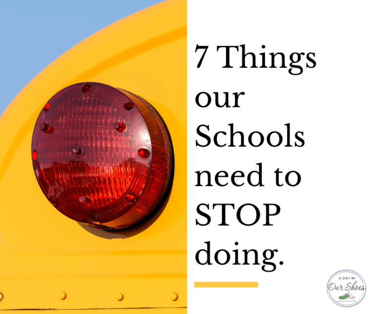 7 Things ALL Schools need to STOP doing, right now.