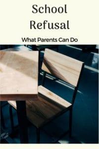 school refusal empty school desk