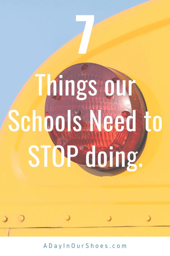 school should stop doing