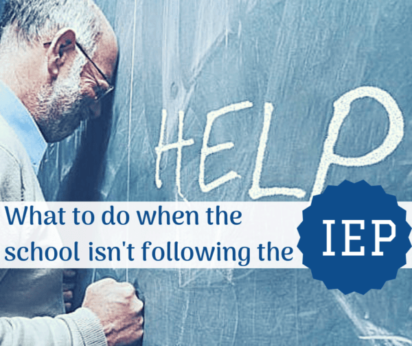 school won't follow iep