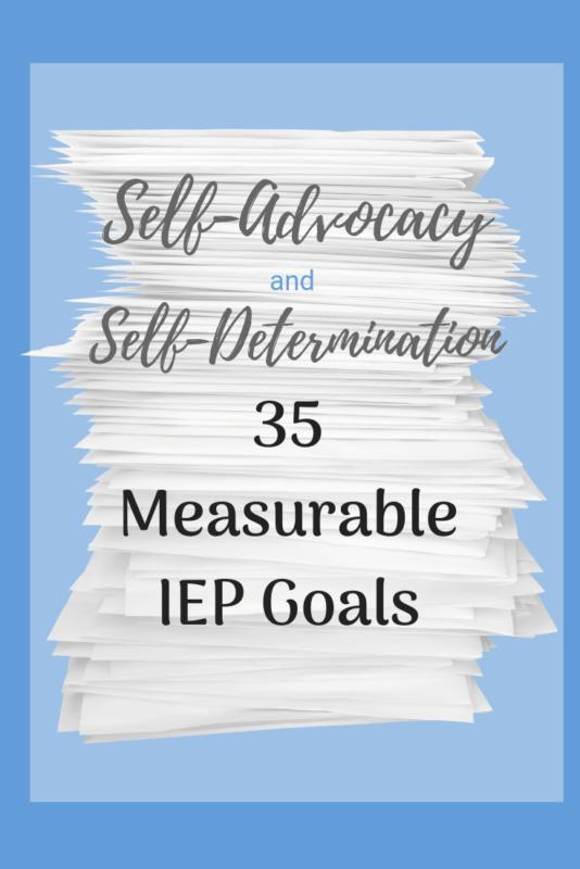 self determination IEP goal