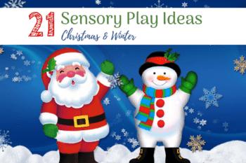 sensory play christmas