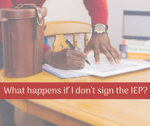 sign the IEP