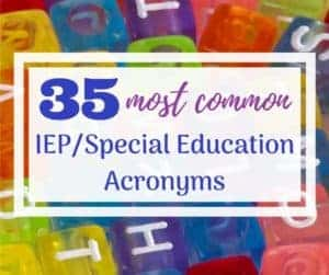special education acronyms