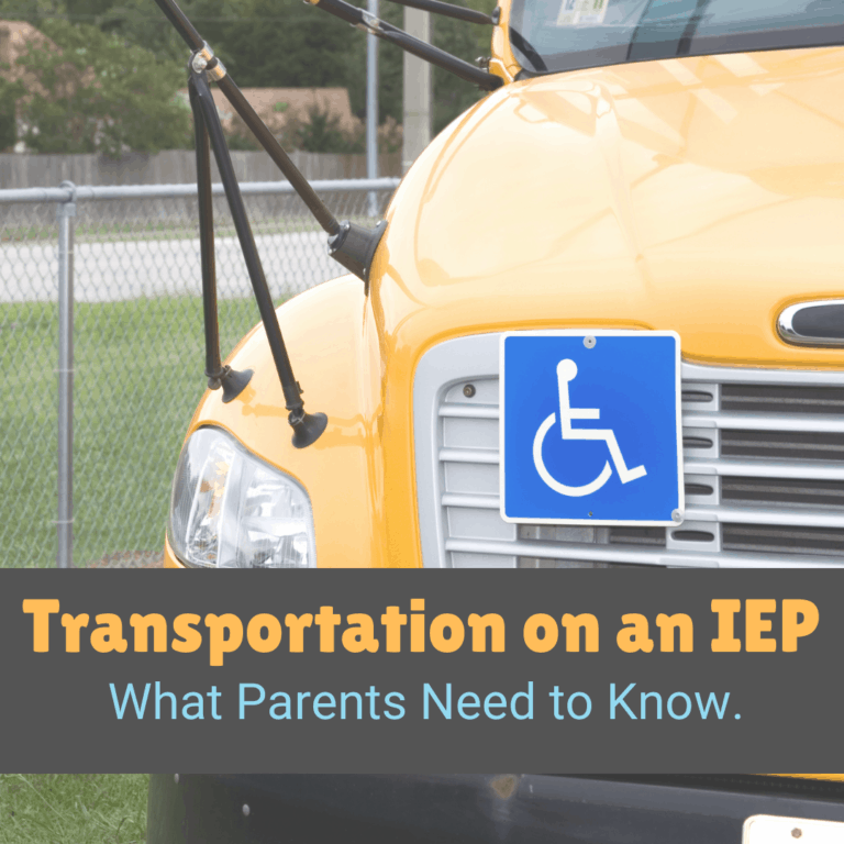 Does my child have to ride the Special Ed Bus to get Transportation on our IEP/504?
