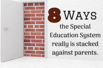 special education system stacked against parent open door brick wall