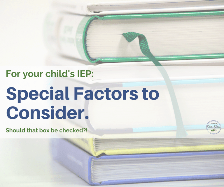 Special Factors in the IEP | Parent and Team Considerations