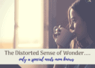 distorted sense of wonder special needs mom woman pondering and drinking a cup of coffee