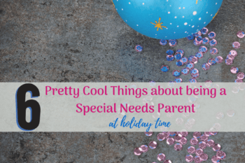 6 Pretty Cool Things about Being a Special Needs Parent at the Holidays Christmas ornament with glitter on floor