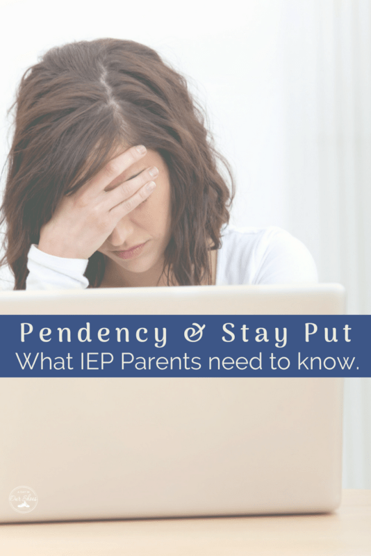 stay put pendency IEP