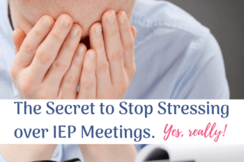 IEP meeting stress