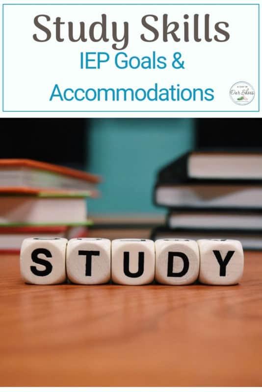 study skills IEP accommodations