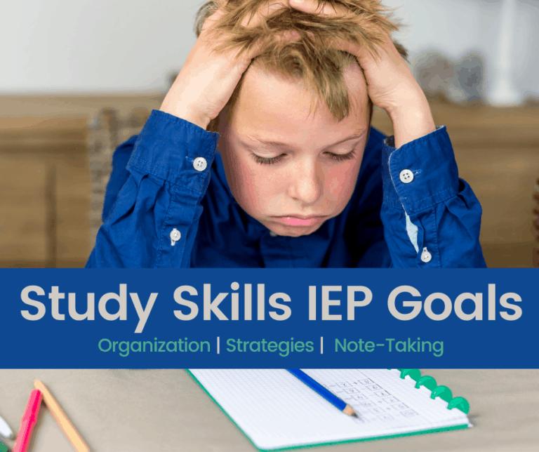 {Study Skills} IEP Goals | Accommodations |  Note Taking