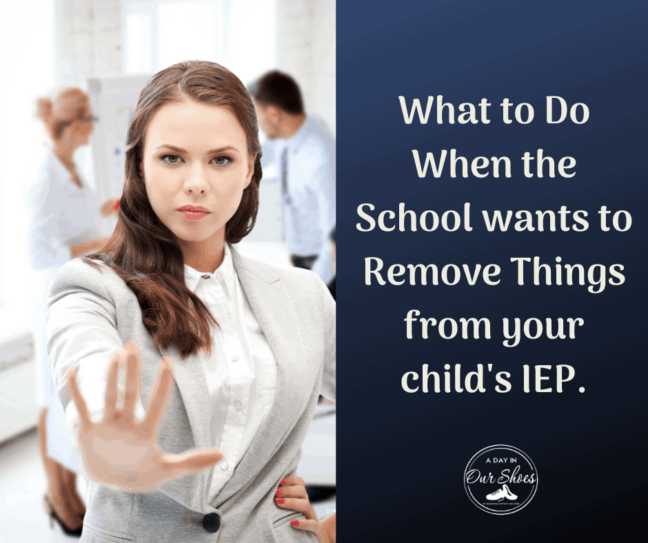 remove iep supports or services