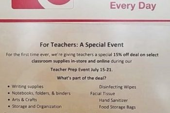 {Teacher Appreciation Day 2018} Shopping Days, Deals and Freebies for Teachers