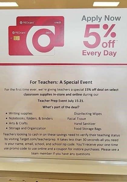 target teacher event july