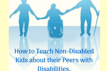 teach non-disabled children about their peers with disabilities people holding hands one in a wheelchair and one with a cane