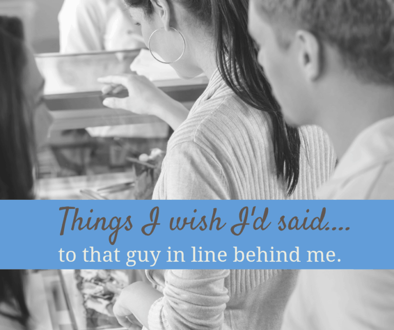 Things I wish I'd said to the guy at Chipotle.