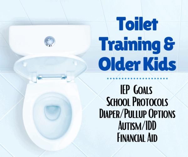 toilet training older kids IEP goals