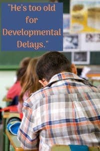 kid at desk developmental delays