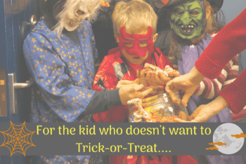 trick or treating ideas for kids who don't want to trick or treat kids dressed up in costume