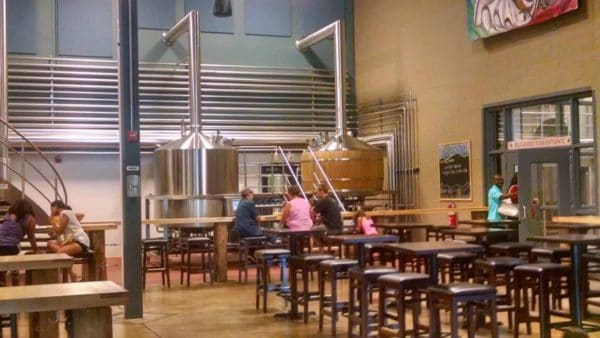 the inside of troegs brewery