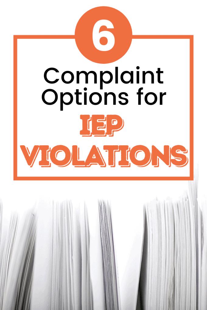violation IEP
