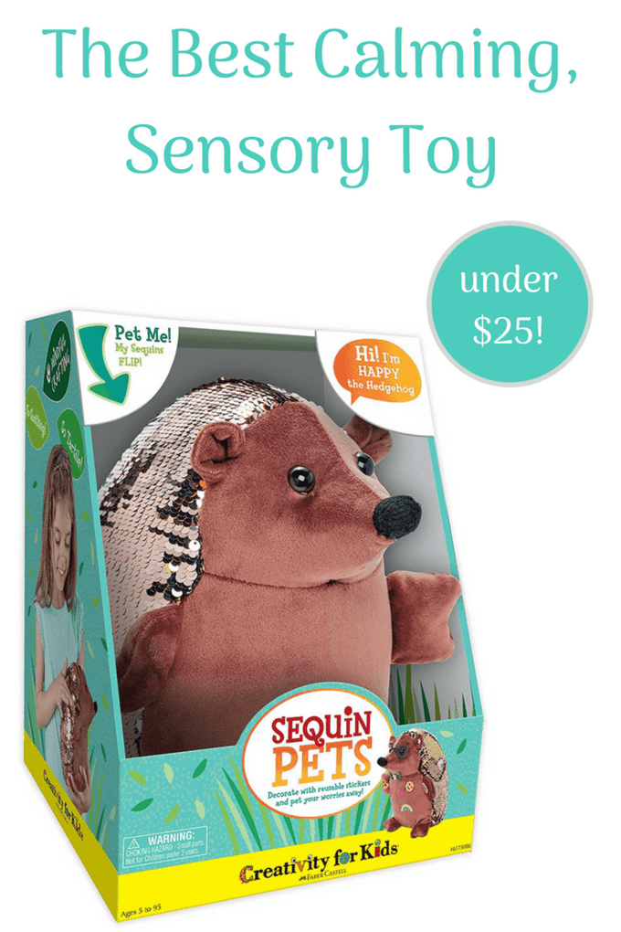 This is definitely the best calming, weighted toy I've seen for under $25. I have a feeling that Happy the Hedgehog is going to be a huge hit this holiday season. #creativityforlife #creativityforkids #arteducation #hedgehogsofinstagram #fabercastell #happythehedgehog