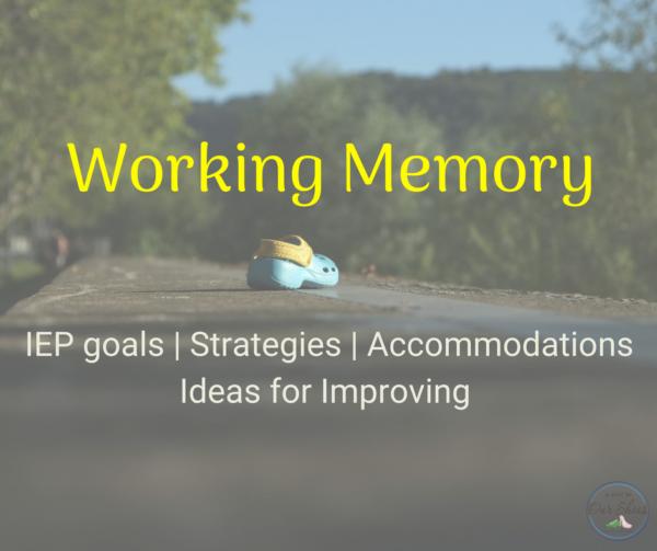 working memory IEP goals