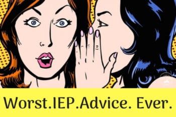 worst iep advice ever woman telling another shocked woman a secret in her ear