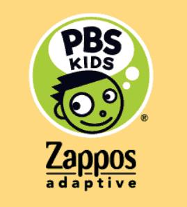 PBS Kids logo and zapplos adaptive clothing