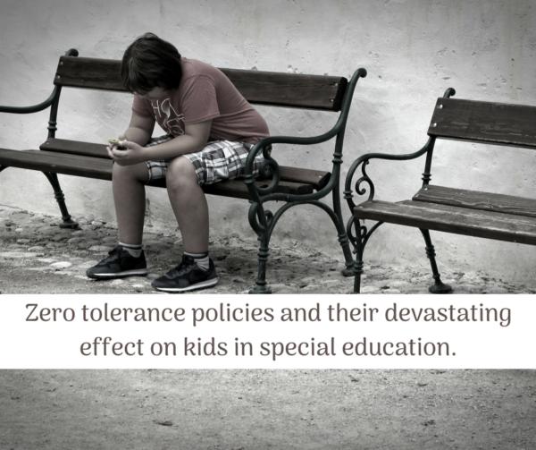 zero tolerance policy special education